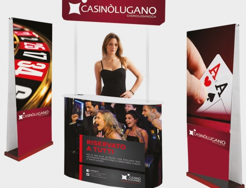 Portable displays systems in suitecase – Casinò Lugano