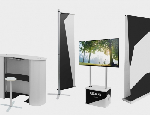 Portable displays systems in suitecase – Fastand