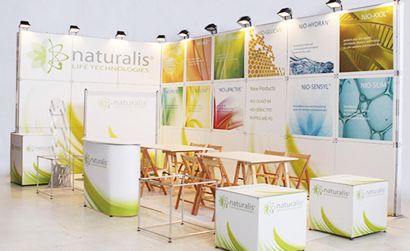 Portable modular stands – Naturalis